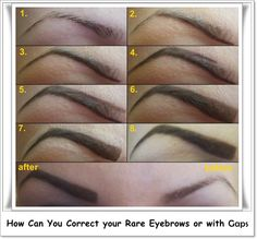 How Can You Correct your Rare Eyebrows or with Gaps - March 10 2019 at Eyebrow Makeup Products, Best Eyebrow Makeup, Makeup Kit, Eye Makeup, Makeup Stuff, Types Of Eyebrows, How To Color Eyebrows, Perfect Eyebrows, Beauty Tips For Face