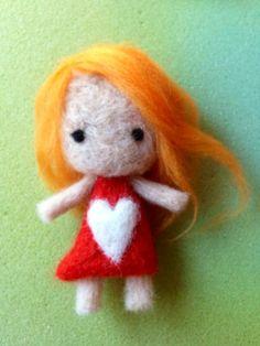 Liz!! Pea-ple - hand made felt doll  by Redlegacy  www.redlegacy.co.uk