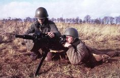 Czechoslovak soldiers operanting a automatic grenade launcher. Communist Propaganda, Warsaw Pact, Military Weapons, German Army, Cold War, Military History, Armed Forces, World War Ii, Old World