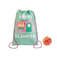 Glam Camp Drawstring Backpack - OrientalTrading.com