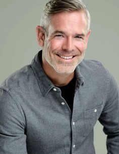 Stylish men with grey hair | For appointments at Stewart & Company Salon, call (404) 266-9696.