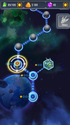 """Level-select/map screen for Android sci-fi spaceship game """"Space Justice"""" Sci Fi Games, Map Games, Game Design, Ui Design, Star Citizen, Space Ship Games, Justice Games, Carnival Images, Planet Map"""