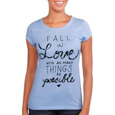 Juniors Fall in Love Graphic Tee