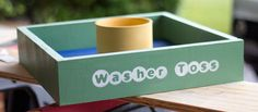DIY Washer Toss Game. We gotta make this one our DIY project for this weekend. =)