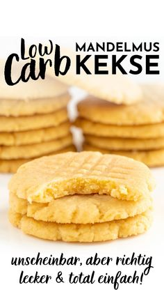 Healthy Sweet Snacks, Healthy Cookies, Low Carb Sweets, Low Carb Desserts, Low Carb Protein, Low Carb Keto, Slow Carb Recipes, Lucky Food, Sugar Free Cookies