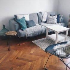 salon cocooning gris bois