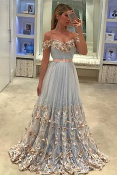 Plus Size Prom Dress, unique tulle light blue long prom dress, tulle evening dress Shop plus-sized prom dresses for curvy figures and plus-size party dresses. Ball gowns for prom in plus sizes and short plus-sized prom dresses Unique Prom Dresses, A Line Prom Dresses, Tulle Prom Dress, Prom Party Dresses, Formal Evening Dresses, Cheap Dresses, Evening Gowns, Beautiful Dresses, Sexy Dresses