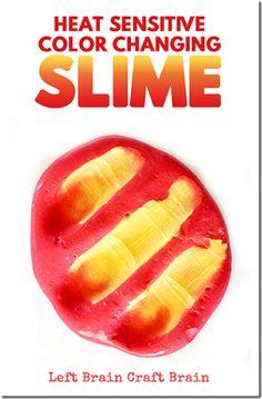 Amazing Heat Sensitive, Color Changing Slime Recipe