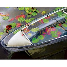 The Transparent Canoe Kayak hybrid supports up to 425 lbs. in 2 adjustable seats.  Paddles included.