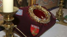 A crown of thorns which was believed to have been worn by Jesus Christ and which was bought by King Louis IX in 1239 is presented at Notre D...