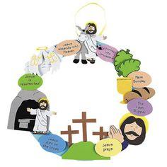 Jesus Easter Wreath Crafts