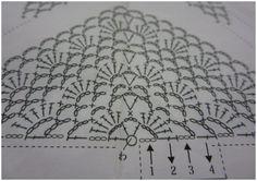 MES FAVORIS TRICOT-CROCHET: Modèle crochet gratuit : Une étole japonaise