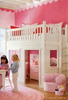Cute fort bunk bed