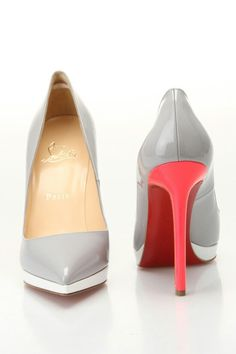 Ohhhh Louboutin. Loving your grey and neon pink shoes. Reminds us of something (ahem.. Neon Nights)