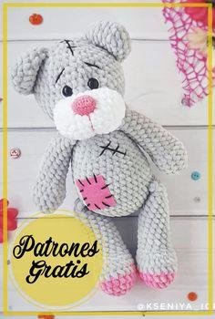 Crochet Toys Patterns, Stuffed Toys Patterns, Amigurumi Free, Teddy Bear, Knitting, Animals, Crochet Bear, Crocheted Toys, Sewing Patterns