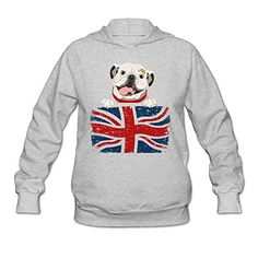 PTR Womens Sweater  English Bulldog Ash Size XXL >>> More info could be found at the image url.  This link participates in Amazon Service LLC Associates Program, a program designed to let participant earn advertising fees by advertising and linking to Amazon.com.