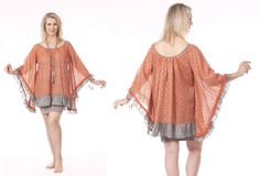 White Label Noba - Sabrina Top in Orange & Stone