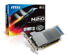 MSI GeForce N210-MD512D3H/LP GT210 Graphics Card 520MHz 1GB (64-bit) DVI HDMI PCI Express 2.0 by MSI. $51.66. N210-MD1GD3H/LP