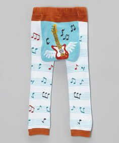 Blue Flying Guitar Leggings