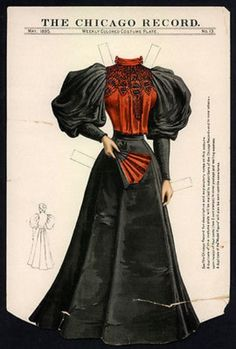 Medieval Clothing, Antique Clothing, Historical Clothing, 1890s Fashion, Vintage Fashion, Dark Costumes, Edwardian Gowns, Belle Epoch, Gibson Girl