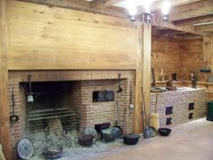 Functioning Rumford cooking fireplace and beehive ovens for the kitchen. This would be cool on the back patio..:)