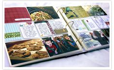 I LOVE this! It's a simple pre-made scrapbook that works really well for my personality. I will do this, someday!