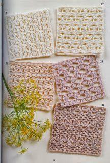 262 Puntos a Crochet Crochet Motifs, Crochet Diagram, Crochet Stitches Patterns, Crochet Granny, Crochet Yarn, Crochet Flowers, Stitch Patterns, Yarn Projects, Crochet Projects