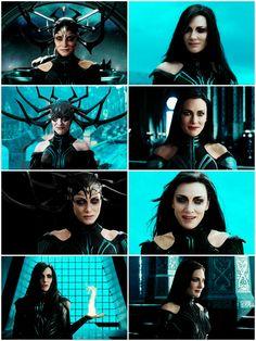 I'm not a queen or a monster, I'm the goddess of death. Marvel E Dc, Marvel Women, Marvel Heroes, Marvel Characters, Marvel Movies, Marvel Avengers, Thor Ragnarok Costume, Thor Ragnarok Hela, Comics