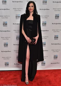 Split dress: Krysten Ritter seemed to be inspired by the actress's sexy display, as she da...