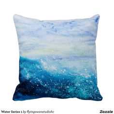 Original painting by H cooper. Water Series 1 Pillows http://www.zazzle.com/flyingswanstudiohc*