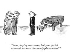 Putting A Face On Classical Music - Humor City Music Love, Pop Music, Music Is Life, Cartoon Jokes, Funny Cartoons, Classical Music Humor, Musician Jokes, Marching Band Humor, Piano Recital
