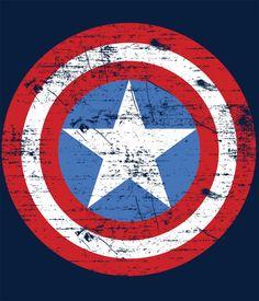 Camiseta Capitán América. Escudo dañado