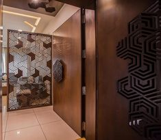 foyer and lobby design & foyer and lobby ideas online - TFOD - Shalini house - Door Design Wooden Door Design, Main Door Design, Foyer Design, Lobby Design, Entrance Design, Wooden Doors, House Design, Interior Wall Colors, Door Design Interior