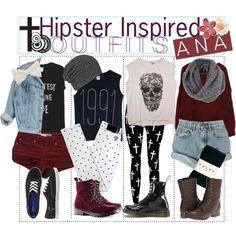 Hipster Inspired Outfits♥ by the-polyvore-paper on Polyvore featuring Monki, Pegleg Nyc, Levi's, Reverse, Falke, H&M, Dr. Martens, Miss Selfridge, AllSaints and Madden Girl