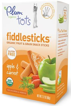When you want to combine a wholesome, healthy and tasty baby food in one package, the Plum Organics Fiddlesticks with apple and carrot would be an optimum choice for your kids!