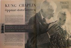 Charlie Chaplin swedish interview December 1957. RadioTv. Page 8-9