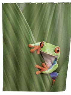Zasłona prysznicowa Frog WENKO kolor kolorowy w Mango