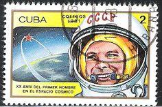 Yuri Gagarin stamp  Cuba
