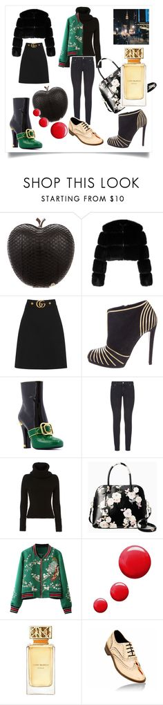 """""""New York fashion week!"""" by rachelegonzaga ❤ liked on Polyvore featuring Elisabeth Weinstock, Givenchy, Gucci, Sergio Rossi, Paige Denim, Exclusive for Intermix, Kate Spade, Topshop and Tory Burch"""