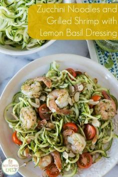 """This """"zoodles and shrimp"""" recipe from Gaby Dalkin is the perfect summer dish! 