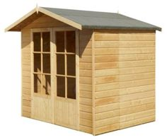 Lumley Summerhouse 7 x Constructed using kiln dried FSC Siberian timber cladding. B and Q has been FSC certified since