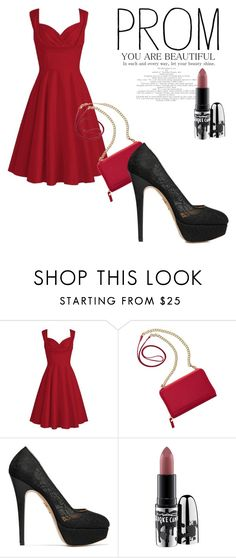 """#25"" by deniseromero20 on Polyvore featuring moda, TravelSmith, Charlotte Olympia y MAC Cosmetics"