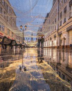 Никольская улица @elenakrizhevskaya Reflection Photography, Moscow, Russia, Louvre, Lights, City, Building, Places, Travel