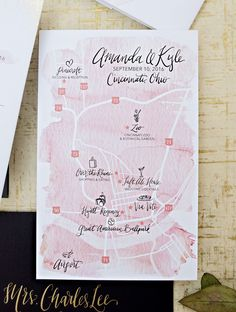 gold foil dot and blush watercolor wedding invitation suite, blush white black and gold wedding invites, custom watercolor wedding map, pocket fold out invitation. WOuldn't it be Lovely