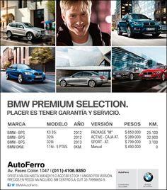 BMW PREMIUM SELECTION - OPORTUNIDADES ÚNICAS en #BMW AutoFerro - Av Paseo Colón 1047 www.autoferro.com