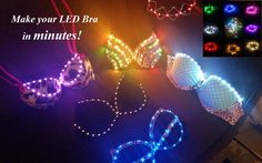 DIY LED Kit - Up to 6 feet of lights! Create your very own LED rave bra, outfit or costume in minutes! You can attach these LEDs to anything Led Costume, Rave Costumes, Festival Costumes, Festival Outfits, Costume Ideas, Led Diy, Rave Bra, Kit, Deco Led