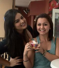 Ayyam and I having some frozen yougurt nom nom kiwiyo