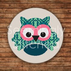 Cross Stitch Pattern  Owl by SeeminglyStitched on Etsy, $4.50