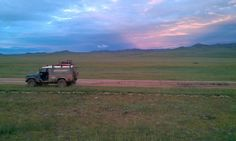 A Mongolian sunset - The Mongol Rally 2014