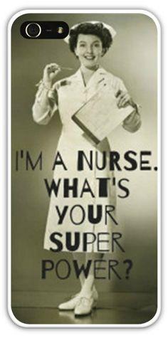I'm a Nurse Cell Phone Case Cover iPhone 4 4S 5 5S 5C Nursing Student Nurses RN LPN APN acnp anp bsn cnp cns rna np lvn School $24.99+FREE SHIPPING!